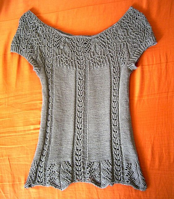 Ravelry: #19 Summer yoke top pattern by Hitomi Shida. This could easily be extended down into a cute dress.