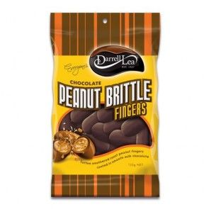Darrell Lea Chocolate Peanut Brittle Fingers 135g