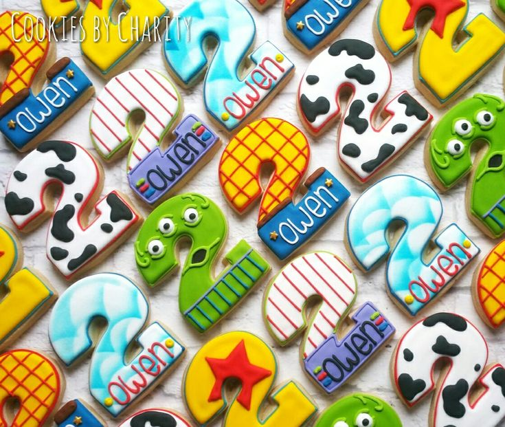 Toy Story birthday party favors: Woody, Buzz Lightyear, alien, Disney Pixar, movie, decorated cookies, custom cookies, Cookies by Charity, Lexington, Kentucky