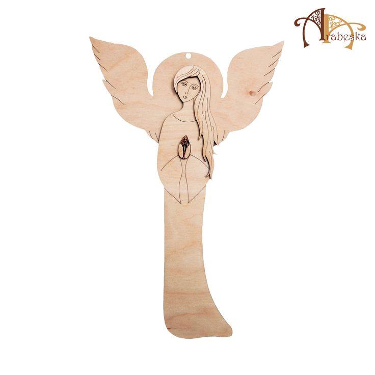 Produkt Arabeski - anioł w częściach do samodzielnego ozdabiania i sklejania (kilka rozmiarów) – www.sklep.centrumarabeska.pl