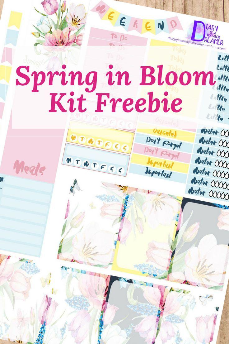 Free Spring in Bloom Printable Planner Stickers.