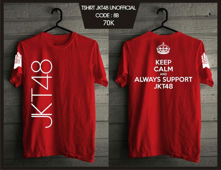 Kaos JKT48 - Keep Calm Red -  SMS 0838 077 97257