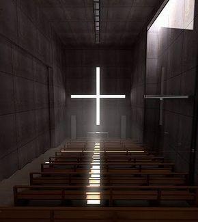 #Church of the Light 光之教堂 在大阪府茨木市北春日丘,設計者是1996年獲得國際教會建築獎的安藤忠雄。Ibaraki - Osaka - Japan