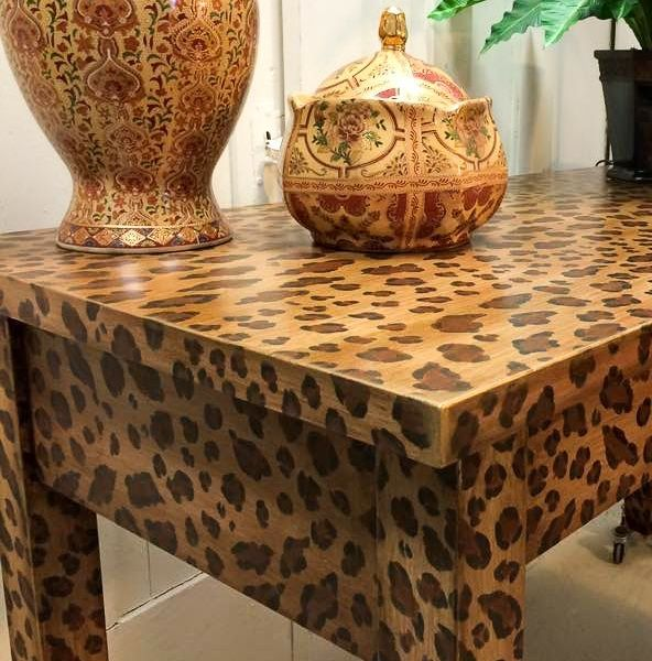 How To Create A Fabulous Hand Painted Leopard Print Finish