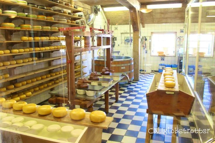 Zaanse Schans: Windmills, Clogs & Cheese! | California Globetrotter | Cheese Making Shop
