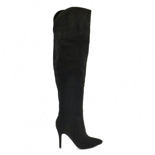 Overknee stiletto laarzen zwart