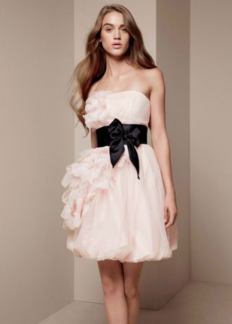 Bubble dress with asymmetrical organza petals style for How to clean your own wedding dress