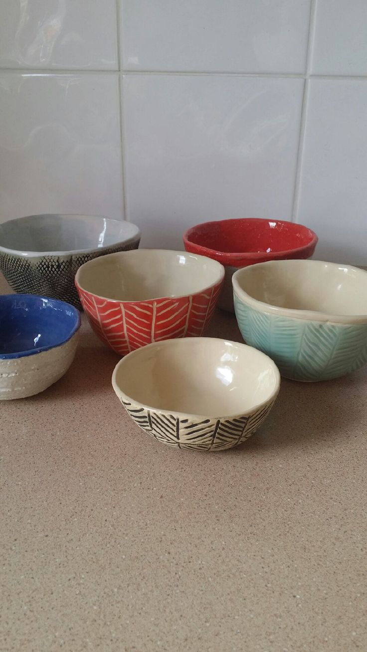 Small hand built bowls