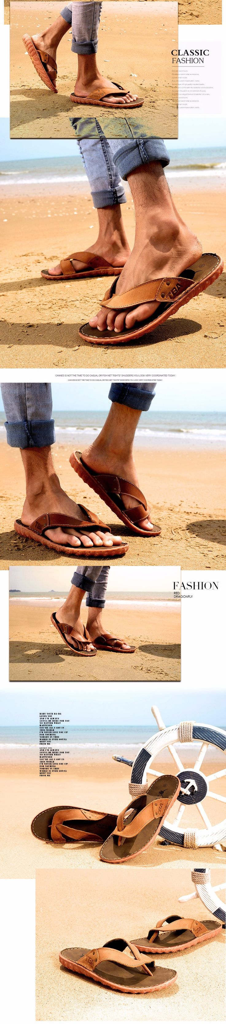 VISIT --> http://playertronics.com/products/2016-new-mens-flip-flops-genuine-cowhide-leather-slippers-summer-fashion-beach-sandals-shoes-for-men-plus-size-39-44/ http://playertronics.com/products/2016-new-mens-flip-flops-genuine-cowhide-leather-slippers-summer-fashion-beach-sandals-shoes-for-men-plus-size-39-44/