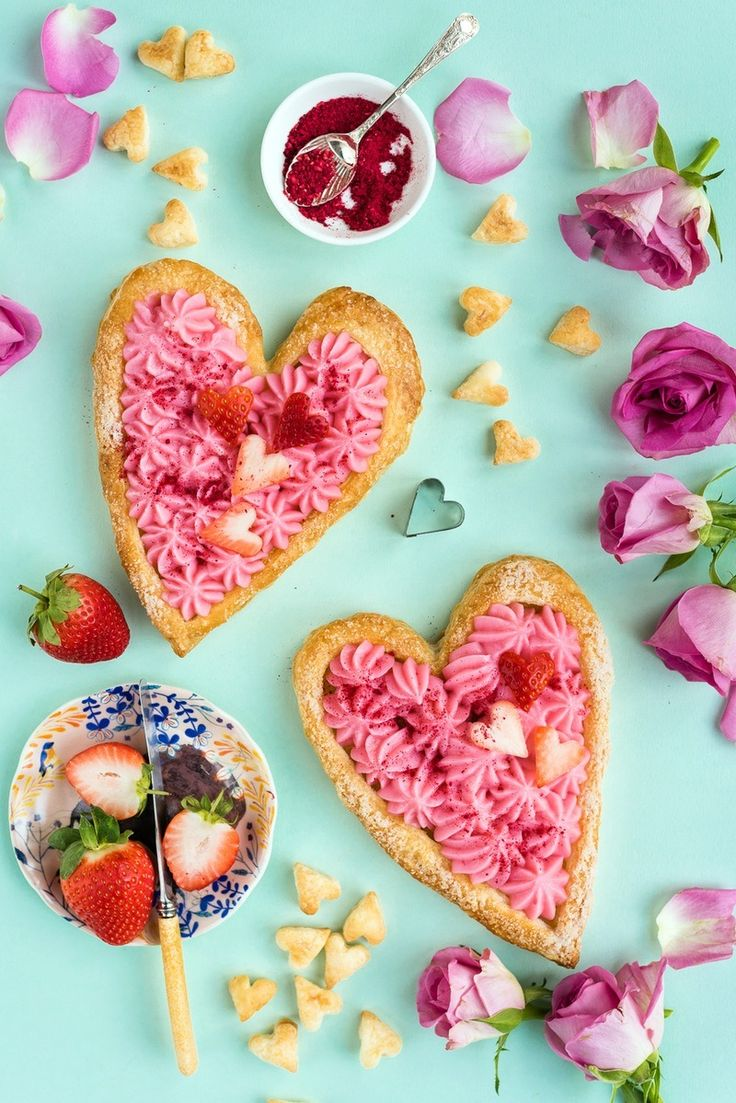 Valentine's Day Heart-Shaped Rose Tart Recipe