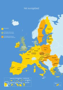 De landen van de eurozone