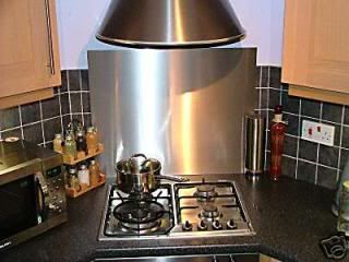 Small Hob Placed On Angled Corner With Oven Under Small