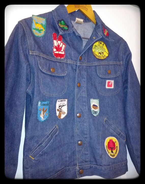 Neat vintage GWG patch covered jacket.