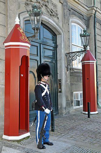 Amalienborg Palace, Copenhagen, Denmark (winter home of the Danish royal family)