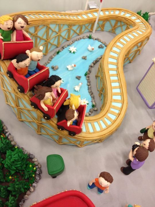 Now, this cake is quite a roller coaster ride, literally!  NIce, unique, or as some say, 'nearly unique.'