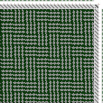 Hand Weaving Draft: Figure 1722, A Handbook of Weaves by G. H. Oelsner, 4S, 4T - Handweaving.net Hand Weaving and Draft Archive