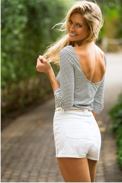 White Shorts Style