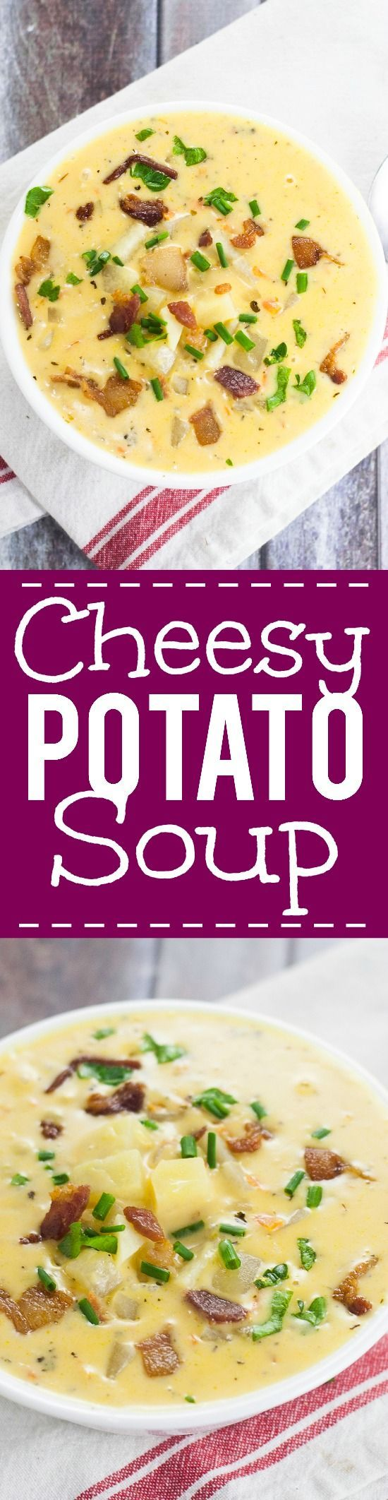 Cheesy Potato Soup Recipe - Warm and creamy Cheesy Potato Soup recipe is a…
