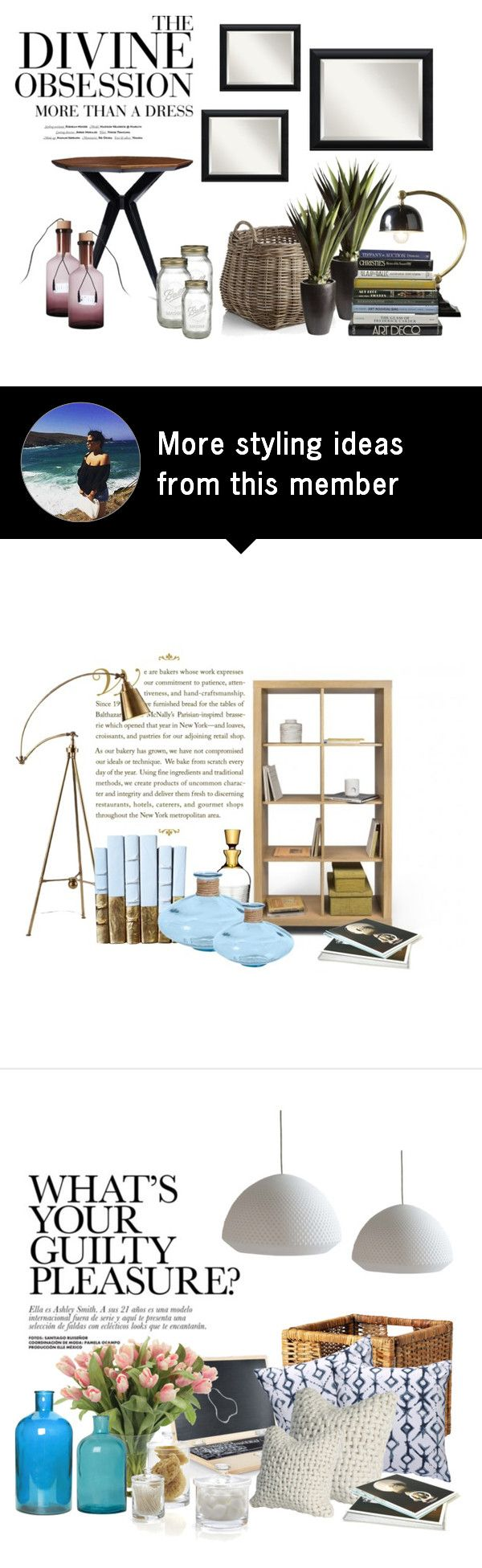 """""""#1935"""" by mar-aloi on Polyvore featuring interior, interiors, interior design, home, home decor, interior decorating, Kate Spade, Seletti, Amanti Art and Crate and Barrel"""