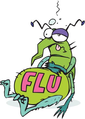 Flu Bug - Illness Cartoon