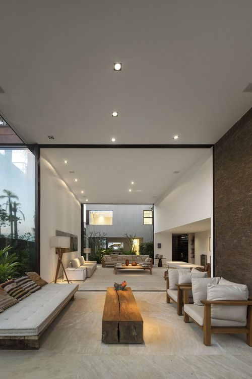 nice internal house design. This house has a nice flow to it  The architect really thought out the homes footprint Four Houses in Baleia by Studio Arthur Casas 161 best InteriorLoftstyle images on Pinterest Living room