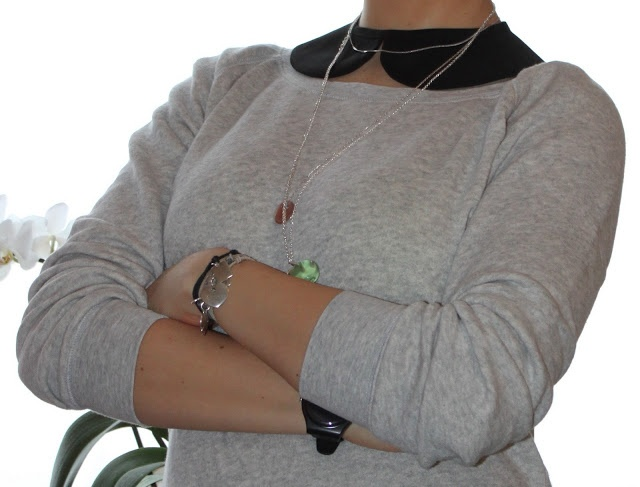 necklace with apple Reserved, necklace silver Lilou, collar handmade