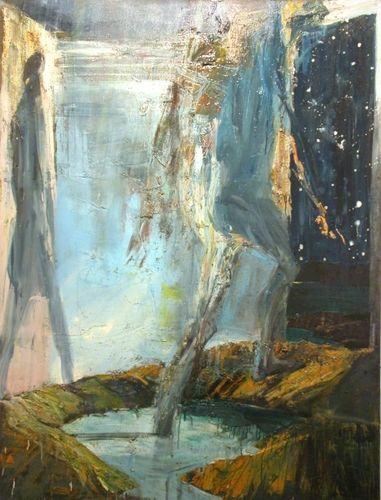 Euan Macleod - nside going outside. 2002 Oil on canvas.