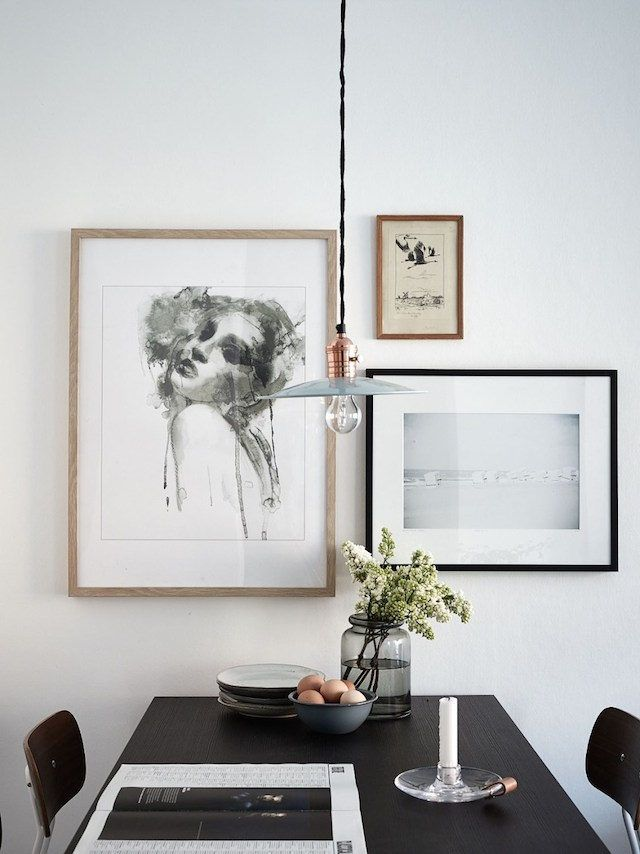 Charcoal and indigo in the home of a Swedish interior designer