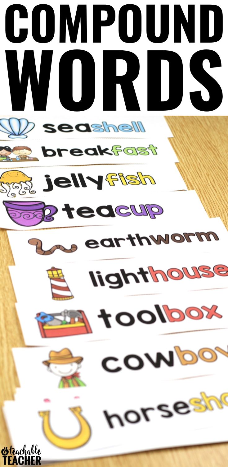 Compound Word Activities Compound Words Pocket Chart Vocabulary Compound Word Reading P Ages