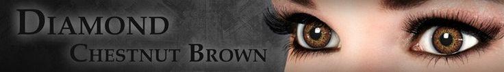 Diamond Chestnut Brown  #contactlens