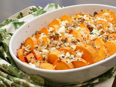 Herbed Sweet Potatoes with Feta | Delish! | Pinterest