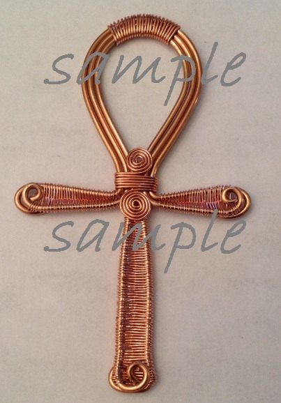 Diy Tutorial Wire Wrapped Jewelry Copper Ankh Beginner