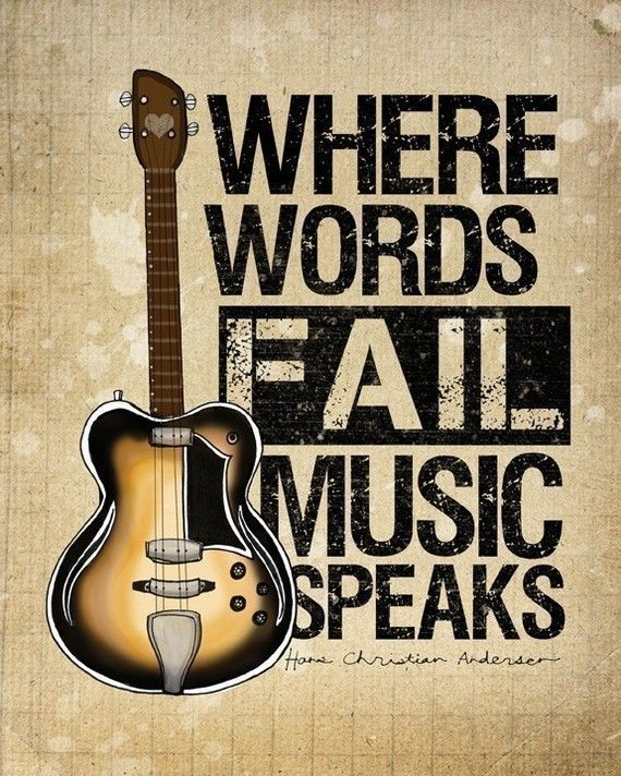 Music Speaks- Beautifully textured cotton canvas art print. Order as an 8x10…