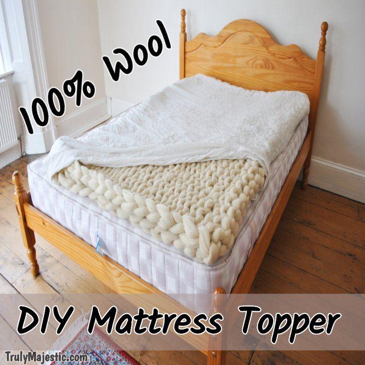 Diy Wool Mattress Topper Easy No Sew Truly Majestic Wool Mattress Diy Mattress Diy Mattress Pad
