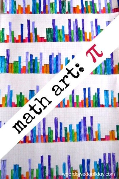 Math art project for kids. Use Pi to create a city skyline!