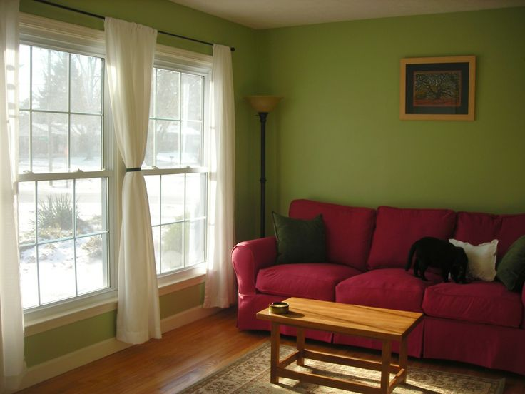 I Like This Green Paint With The Red Couch