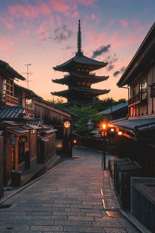 "banshy: "" Sunset In Kyoto |  Leslie Taylor """