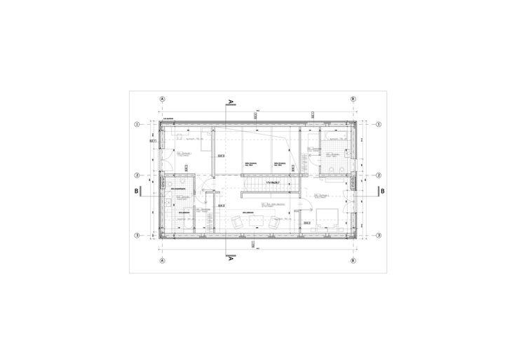 Projekt domu jednorodzinnego pod Warszawą plan piętra