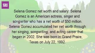Selena gomez net worth 2017 how much is now? . Selena gomez net worth find out how much the star has banked what is selena gomez's worth? 2017 rich she now? The Youtube. American actress and singer selena gomez has an estimated net worth of $50 million. The ranking is significant for many...