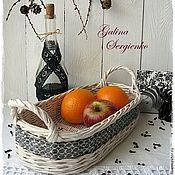 """Для дома и интерьера ручной работы. Ярмарка Мастеров - ручная работа Корзина плетеная """"Ice cream"""" для фруктов.... Handmade."""