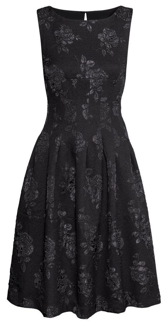H&M black brocade dress, Fall 2014