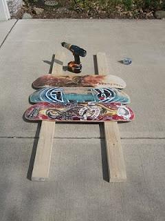 Skateboard headboard