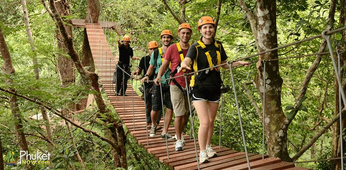 If you're on a super short trip and looking for exciting activities, 'Zipline Adventure' can be a good choice. 'Zipline Adventure' is one of the most exciting and thrilling activities in Phuket. A haul of about 400 m Zip-line taking about 2.30 hours will be an unforgettable adventure in Phuket. Would you like to be a modern-day Tarzan?