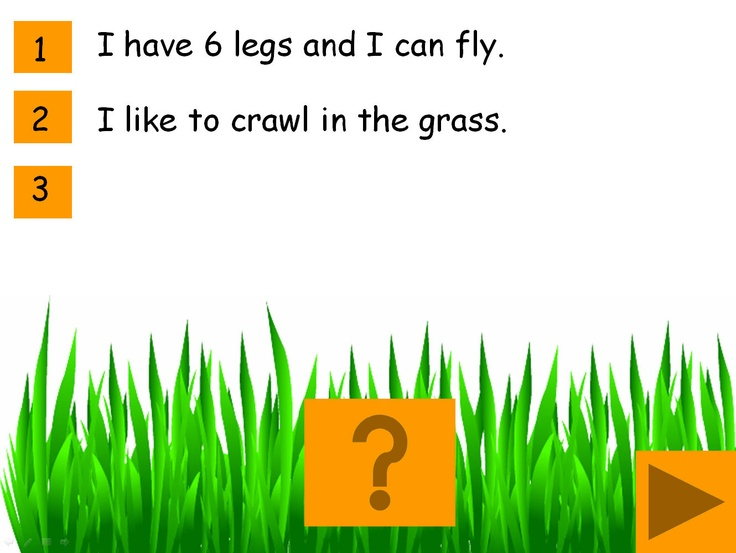 What am I? A Minibeast descriptions game for IWB: Interactive game for young pupils or those with SEN.