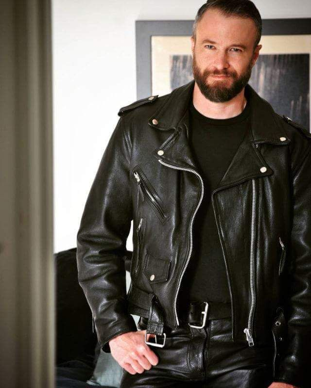 Leather jacket gay