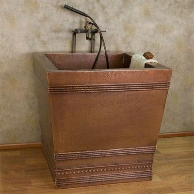 """35"""" Benton Square Copper Japanese Style Soaking Tub on eBay!"""