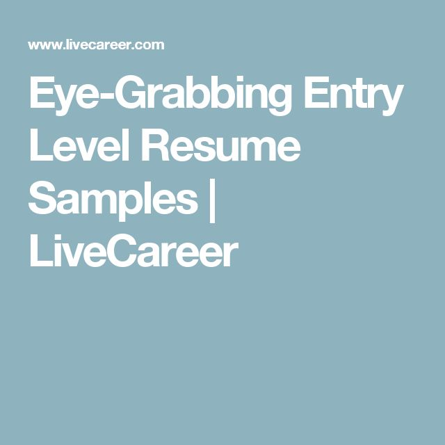 25+ unique Entry level resume ideas on Pinterest Accounting - biologist resume sample