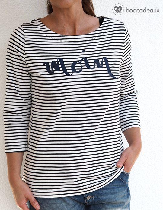 Gestreiftes Shirt - maritim - Moin - Jerseykleid als Shirt von Lillesol & Pelle
