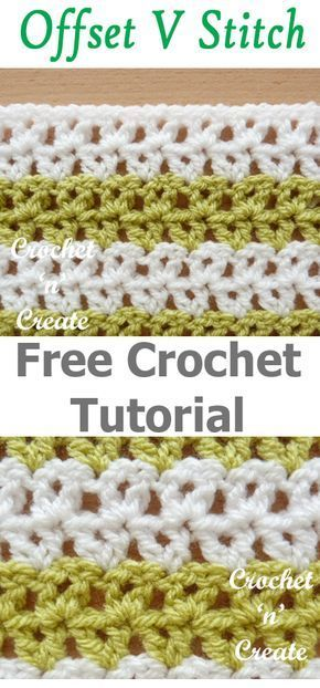 Crochet Offset V Stitch Free Tutorial, make lots of projects with ...