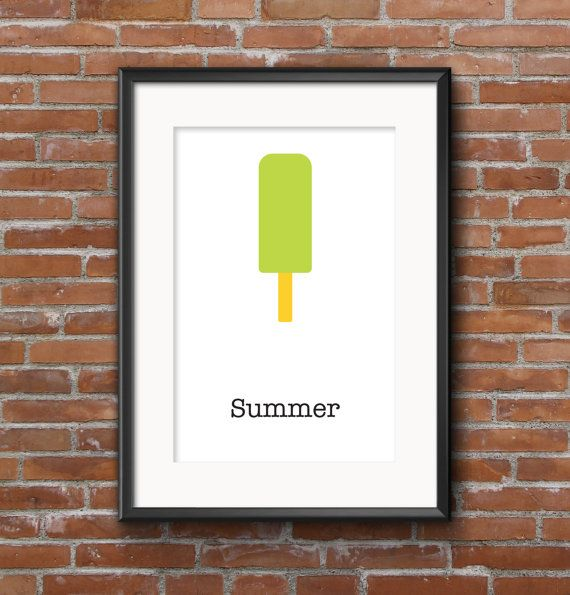 Poster kitchen Ice cream / Wall poster food / Posters by SketchChe